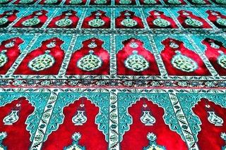 Teppich Muster in der blauen Moschee in Manavgat