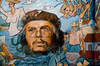 Che's portrait in Baracoa, Cuba / Che's Porträt in Baracoa, Kuba
