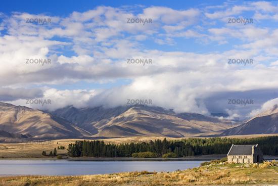 Lake Tekapo and Church of the Good Shepherd