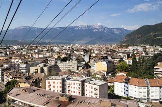 Blick auf Bozen, Südtirol, Italien, View to Bolzano, South Tyrol, Italy