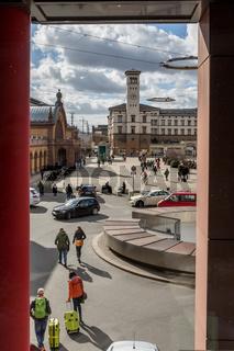 Blick auf den Willy-Brandt-Platz in Erfurt