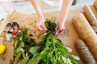 Image of florist at work