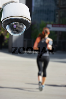 CCTV camera with jogger