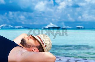 Man at Maldives