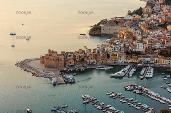 Castellammare del Golfo sea bay, Sicily, Italy