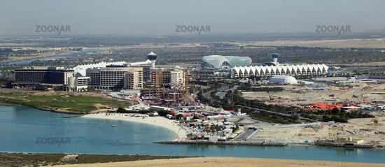 Abu Dhabi, Areal am Yas Marina Circuit, der Formel 1 Rennstrecke