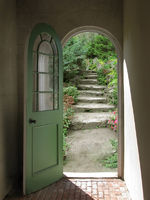 Arched Doorway to Quiet Garden