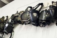 Antike Gasmasken