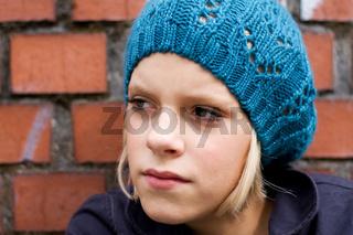 Mädchen mit Mütze