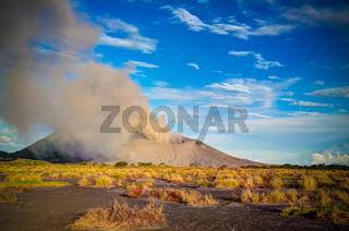 Eruption of Tavurvur volcano, Rabaul, New Britain island, Papua New Guinea