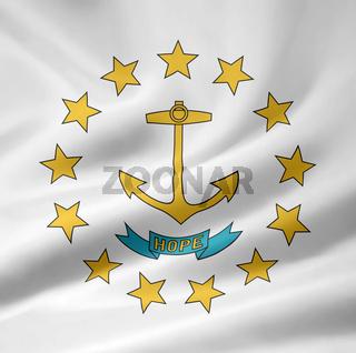 Flagge von Rhode Island - USA
