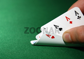 poker: poker with 4 aces