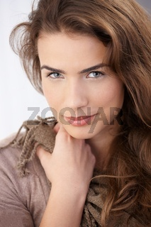 Portrait of beautiful woman smiling