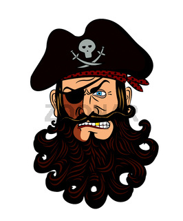Pirate face vector isolated on a white background.