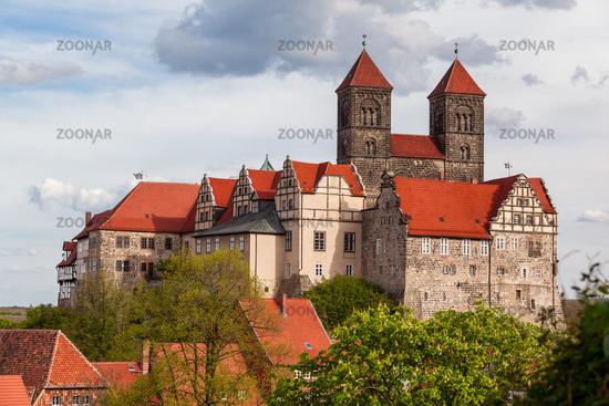 Blick auf die historische Welterbestadt Quedlinburg Harz