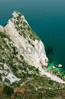 Mount Conero cliff, Marche, Italy
