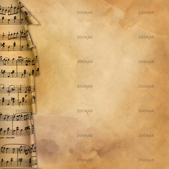 Old background with musical border for design