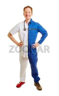 Jobwechsel von Arbeiter zum Arzt