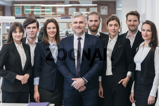 Group of friendly businesspeople