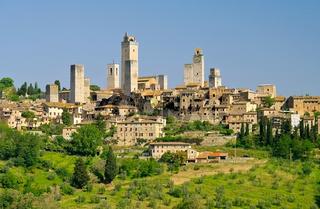 San Gimignano in der Toskana, Italien - San Gimignano in Tuscany, Italy