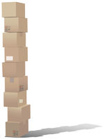 Stack of shipping carton boxes