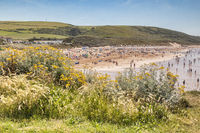 Woolacombe Beach North Devon UK Hot Sunny Day