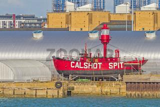 Calshot Spit Lightship, Ocean Village Marina, Southampton, UK