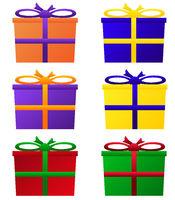 Geschenkpakete in bunten Farben