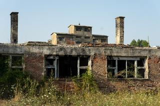 Zerstörtes Kohlebergwerk aus dem Bosnienkrieg, Bosnien
