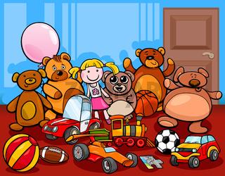 toys group cartoon illustration