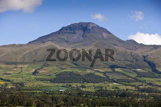 Blick auf den Corazon Vulkan, Ecuador