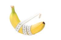 Banane mit Maßband