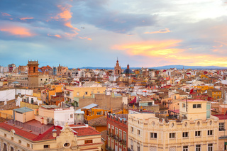 Overlooking of Valencia, Spain