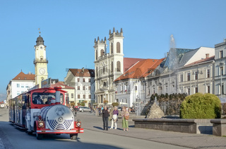 Auf dem Marktplatz von Banska-Bystrica