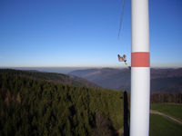 Wartung Windrad / maintenance wind generator