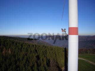 Wartung Windrad / maintenance wind generator