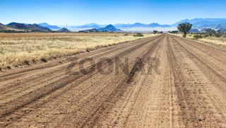 Bumpy road to success and through the african desert.