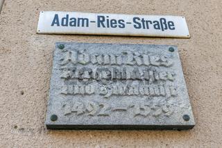 Adam-Ries-Tafel in Annaberg