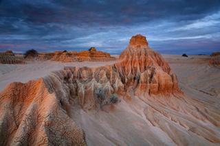Desert sculpted rocks in the outback