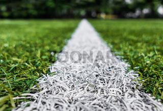 Lines on soccer football field