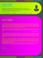 Modern colorful cover letter resume cv template