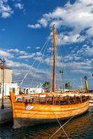 Reconstruction of Kyrenia ship in Limassol, Cyprus