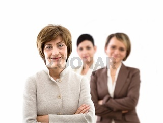 Team of businesswomen isolated