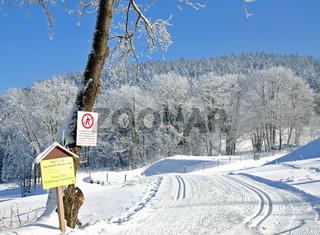 Langlaufloipe im Bayerwald