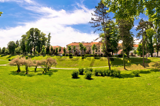 Town of Karlovac green park view