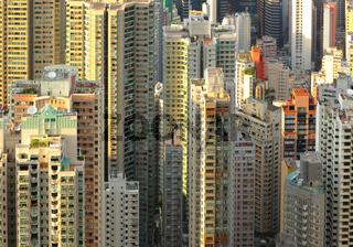 many buildings in Hong Kong