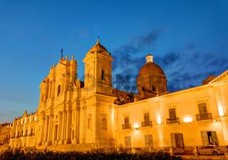 Die barocke Kathedrale von Noto in Sizilien