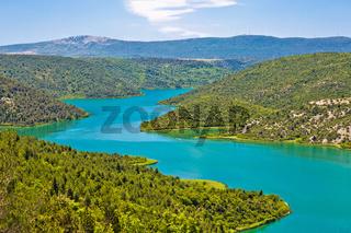 Krka river national park view