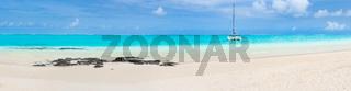 Pointe d'Esny beach, Mauritius. Panorama