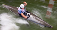 Wildwasser-Slalom, Impression/Typical, mitgezogen/verwischt